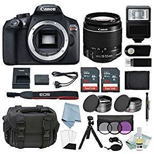 New Canon EOS Rebel T6 Bundle With EF-S 18-55mm  II Lens + Best Canon Camera Advanced Accessory Kit