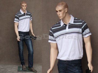 Fashon Realistic male mannequin with molded hair