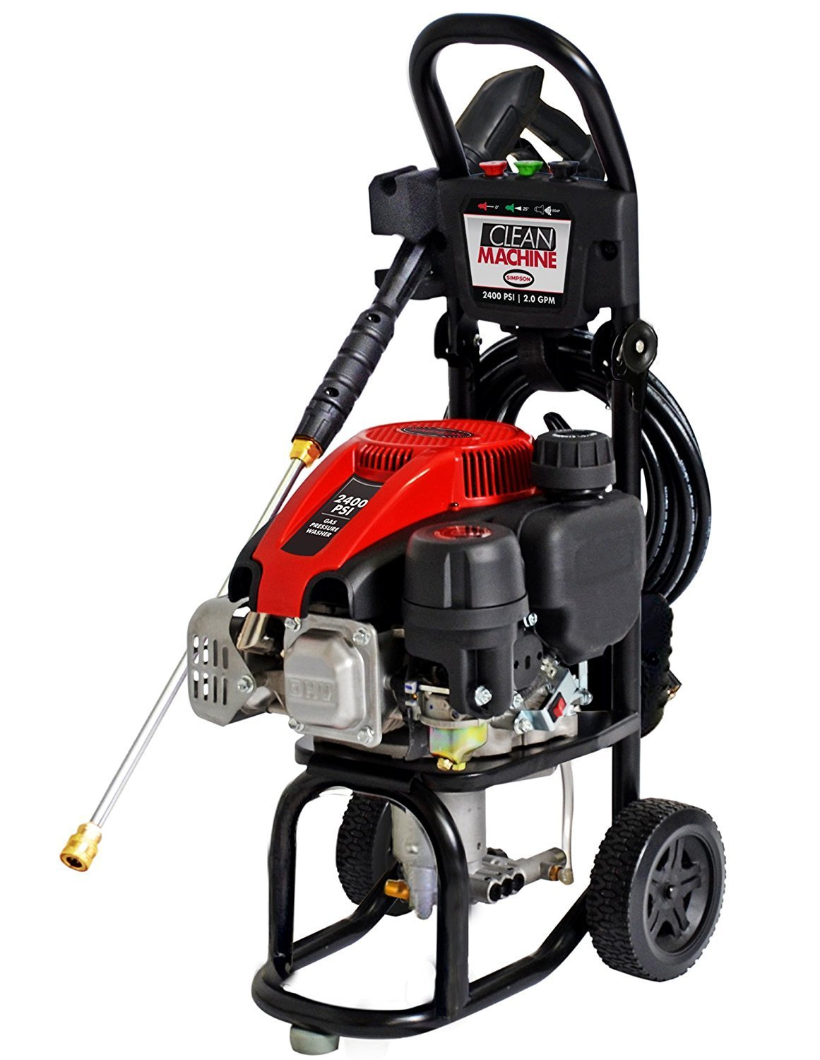 Car Wash Clean Machine by Simpson 60972 2400 PSI at 2.0 GPM Pressure Washer
