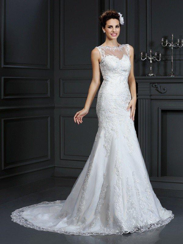 Brand  Long Satin Wedding Dresses
