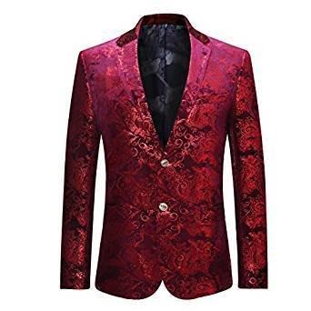 Viewer Cloudstyle Men's Dress Floral Suit