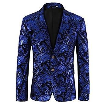 Bleu Cloudstyle Men's Dress Floral Suit