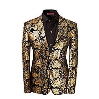 Gold Blaser Cloudstyle Men's Dress Floral Suit