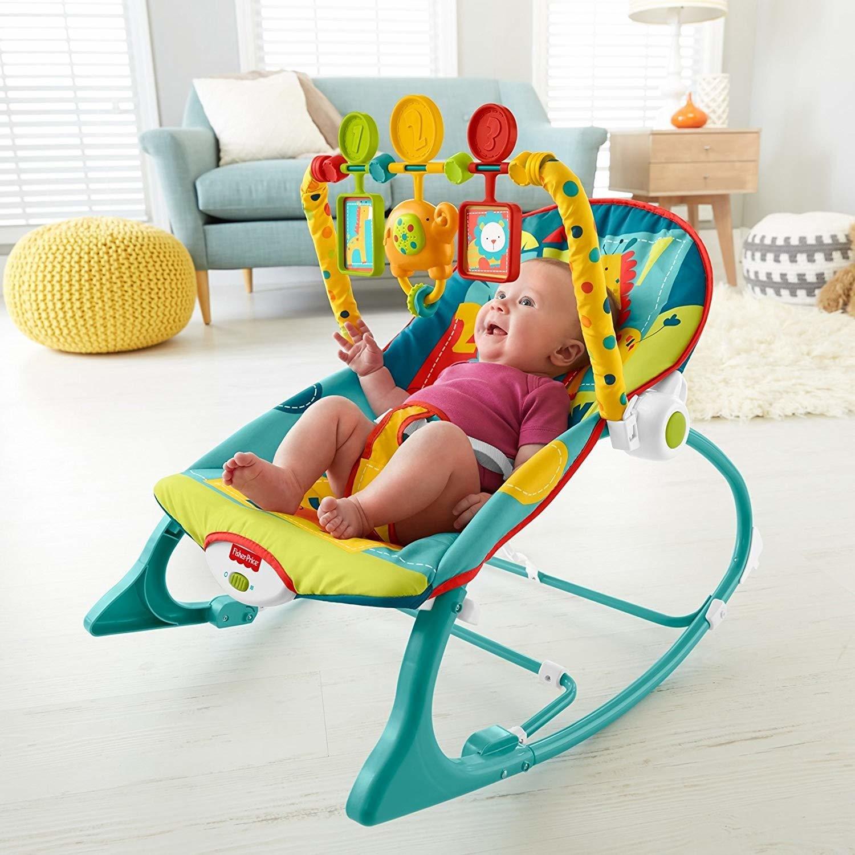 Soft Infant-to-Toddler Rocker, Dark Safari