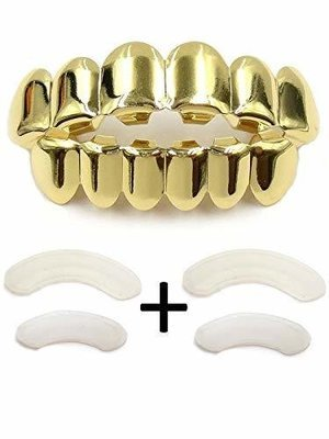 Valve 14k Gold grillz Plated tooth grills fit mouth