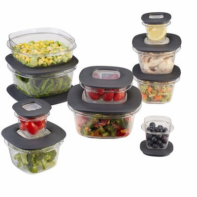 (20 Pieces) Food Storage Containers, Gray set