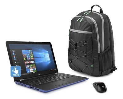Bring new 2018 HP Marine Blue Laptop (with Wireless Mouse and Backpack)