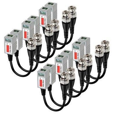 Device Camera VIMVIP 6 PAIRS (12 Pcs) Mini CCTV BNC Video Balun Transceiver Cable