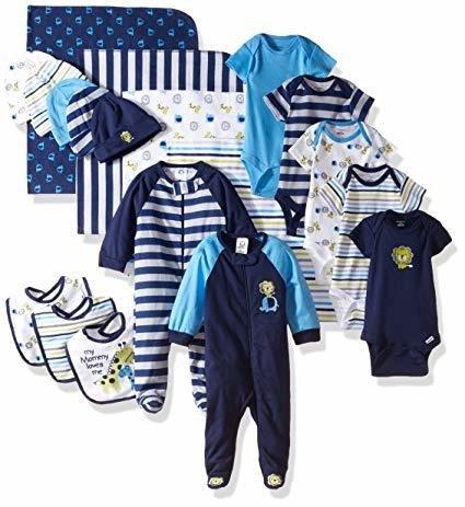 Gerber 19 Pieces Baby Essentials Gift Set