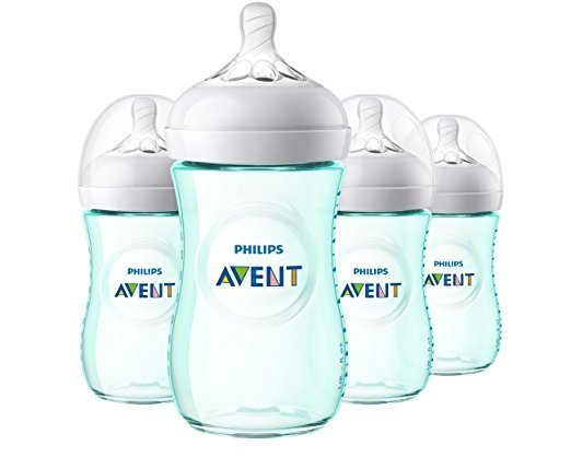 Philips Avent Natural Baby Bottle, Teal, 9oz, 4pk