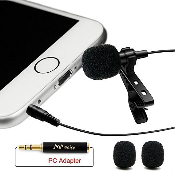 Profesional Microphone Omnidirectional Condenser Mic for Apple IPhone Android & Windows