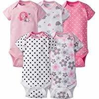 Kute Gerber Baby Girls' 5 Pack