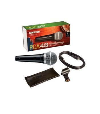 PGA48 Shure (PGA48-XLR) Cardioid Dynamic Vocal Microphone with XLR-QTR Cable