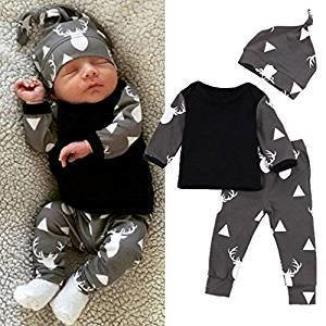 Classe FEITONG Newborn Toddler Baby Boy / Girl(3pcs ) 3months
