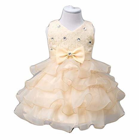 Quality 0-24 Months Baby Flower Girl Dress Kids