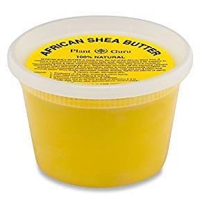 Plant Guru African Shea Butter Raw Unrefined Grade A 100% Pure Natural Gold/Yellow 16 oz.