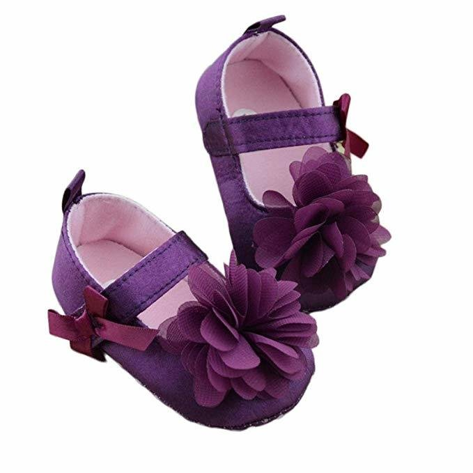 Hill Baby Girls Cloth Soft Sole Shoes