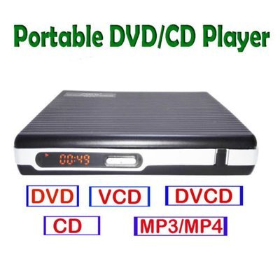 Portable DVD VCD CD MP4 player without screen USB
