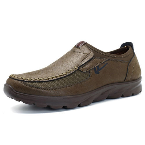 Fashion Men's Leather Casual Shoes Breathable
