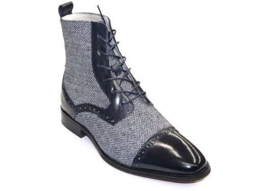 Mens High Top Boot GIOVANNI Navy blue