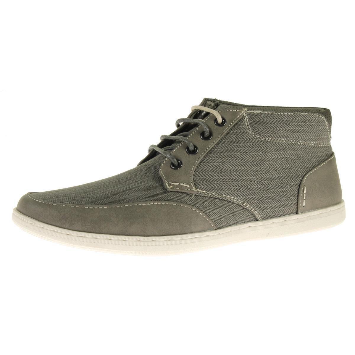 Steve Madden Mens Landor Gray Herringbone Chukka Sneakers 7 Medium