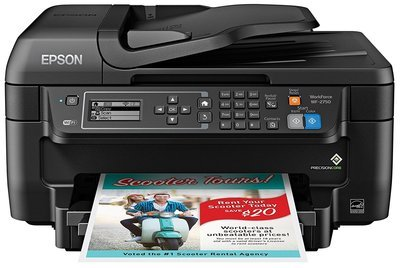 Epson WF-2750 Color Printer with Scanner, Copier & Fax