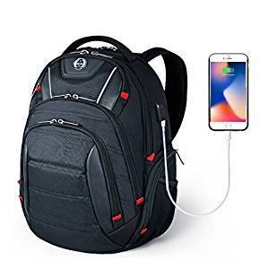 Travel Laptop School Backpack for Mens and Women with USB Charging Port