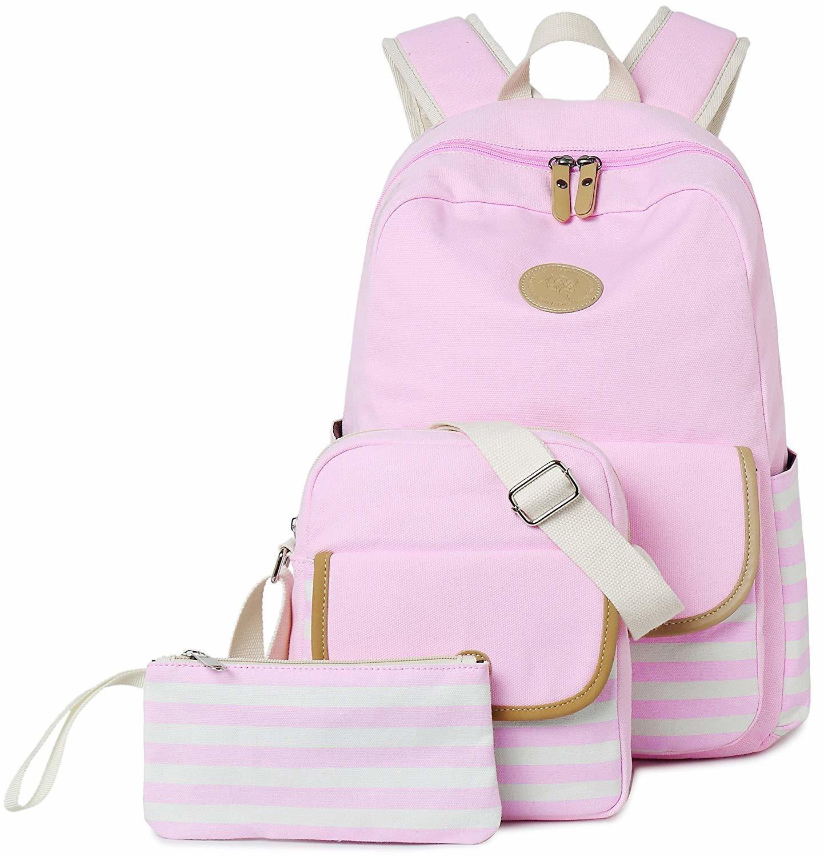 School College Bookbags Laptop Bag (Pink)
