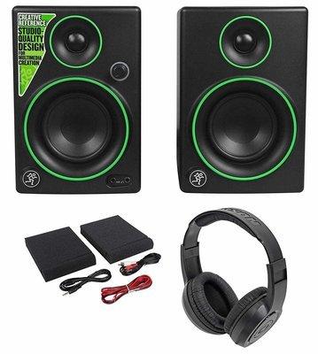Multimedia Monitors Speakers + Headphones Pair Mackie CR3 3