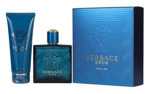 Versace Eros Men 2 Pieces Set 3.4 oz Eau De Toilette Spray