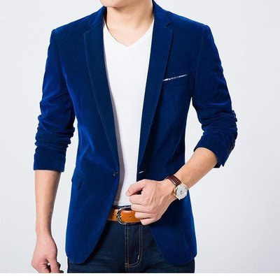 Men'S Solid Casual Blazer Business Suits