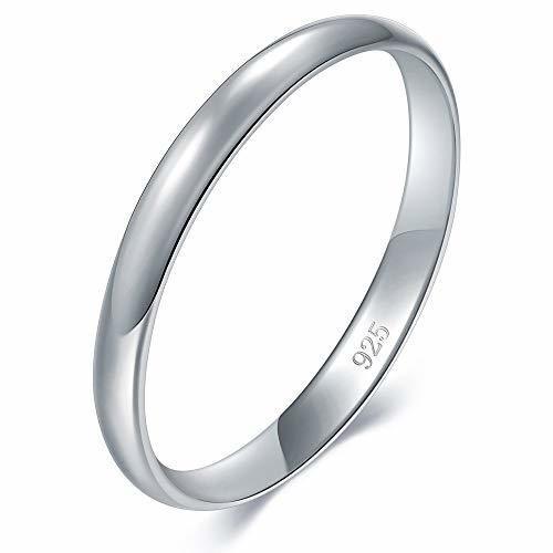 BORUO 925 Sterling Silver Ring High Polish Plain