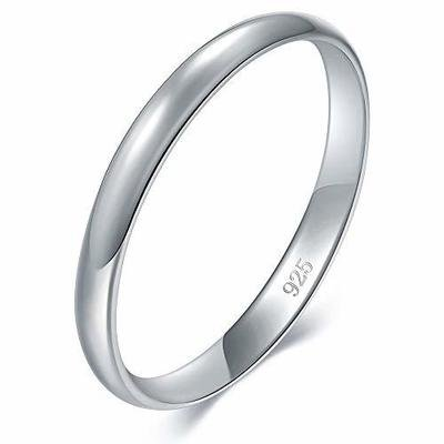 BORUO 925 Sterling Silver Ring High Polish Plain