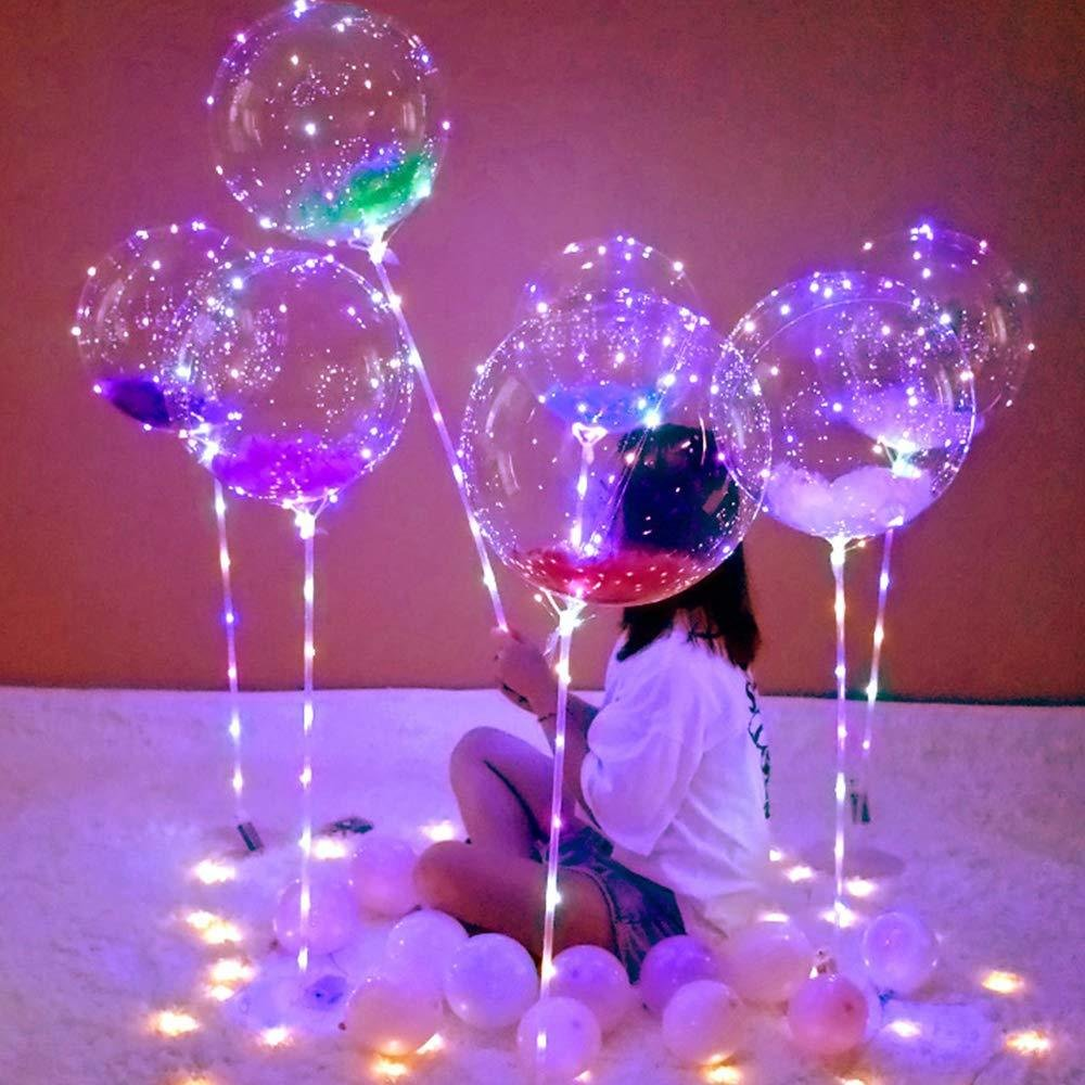 AU LED Helium/Air Bobo Balloon String Lights Flasher Lighting Wave Ball 10FT