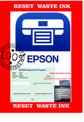 Reset Epson L3110 Waste Ink Pad DELIVERY BY EMAIL IN MAXIMUM 24 HOURS 100%GUARAN
