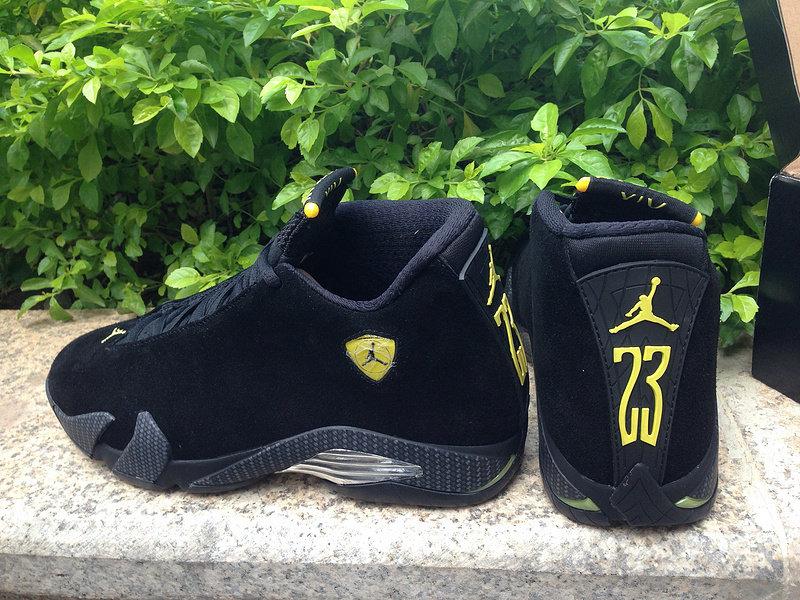 Jordan 14 XIV Black Suede Ferrari
