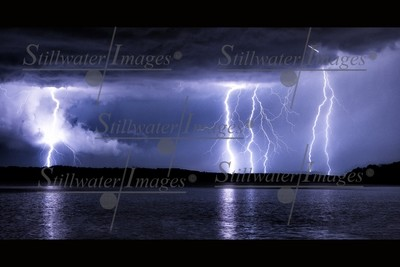 Lightning Over Eagle Creek 16x24 canvas wrap