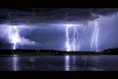Lightning Over Eagle Creek 16x24 metal print
