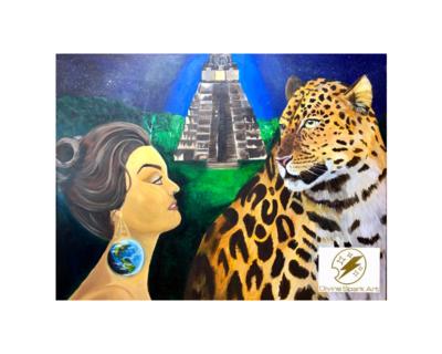 "Jaguar's Protection, 10""x12"" Art Print"