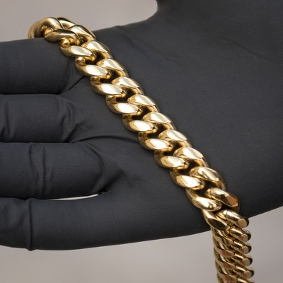 Heavy Gold Solid Miami Cuban Link Chain