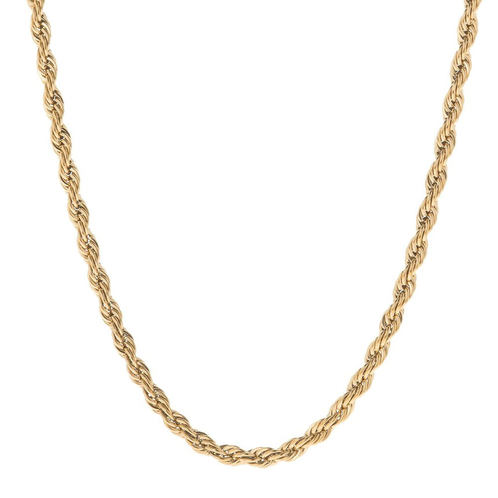 4mm 20inch 14k Gold Plated Rope Chain