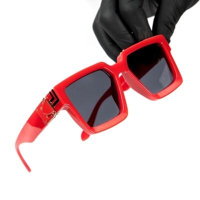 Red Gold Trim Dark Hendrix Mens Sunglasses