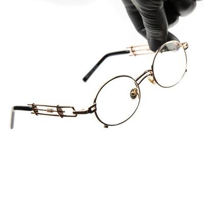 Vintage Gold Frame Clear Lens Mens Glasses