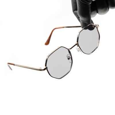 Gold Frame Grey Tint Summer Sunglasses