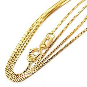 18k Gold Plated 316 Stainless Steel Box Chain
