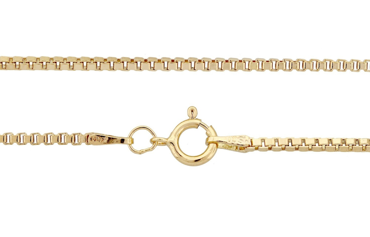 14k Gold Plated 316 Stainless Steel Box Chain