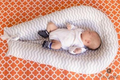 Ninho CHEVRON CINZA 6 meses - 1 ano