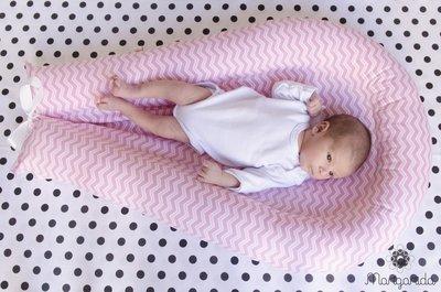 Ninho CHEVRON ROSA 6 meses - 1 ano