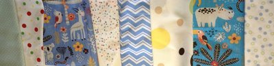 Bandeirinhas Decorativas em Tecido - cordão branco