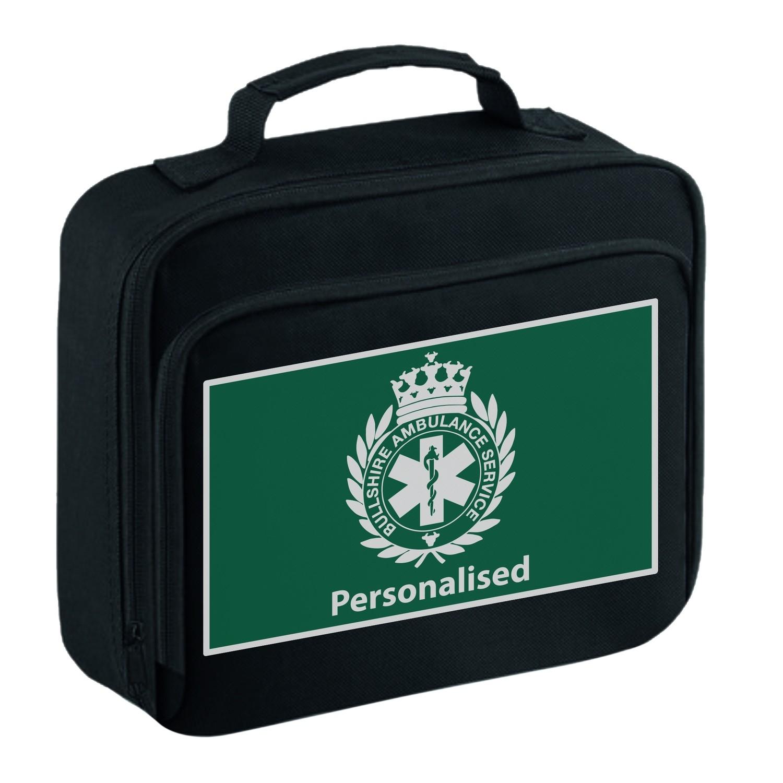 Personalised 'Bullshire Ambulance Service' Lunch Bag